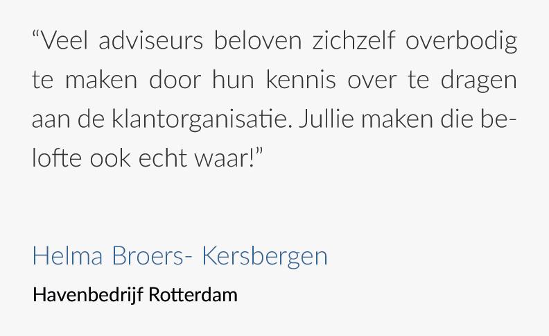 Tevreden klanten - Havenbedrijf Rotterdam