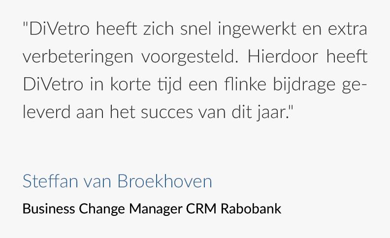 Tevreden klanten - Rabobank