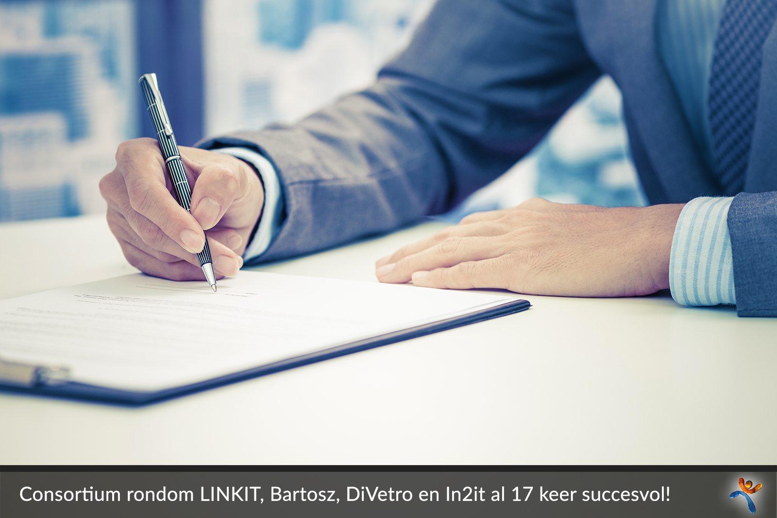 Specialistisch consortium rondom LINKIT, Bartosz, DiVetro en In2it al 17 keer succesvol - DiVetro