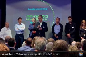 Analisten DiVetro spreken op 10e DREAM event